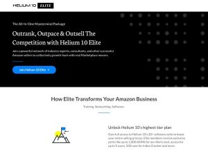 Helium 10 Elite - Amazon FBA Mastermind
